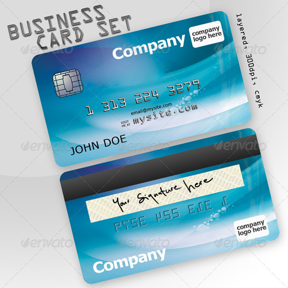 Business card set credit card by scarab13 graphicriver business card set credit card creative business cards colourmoves