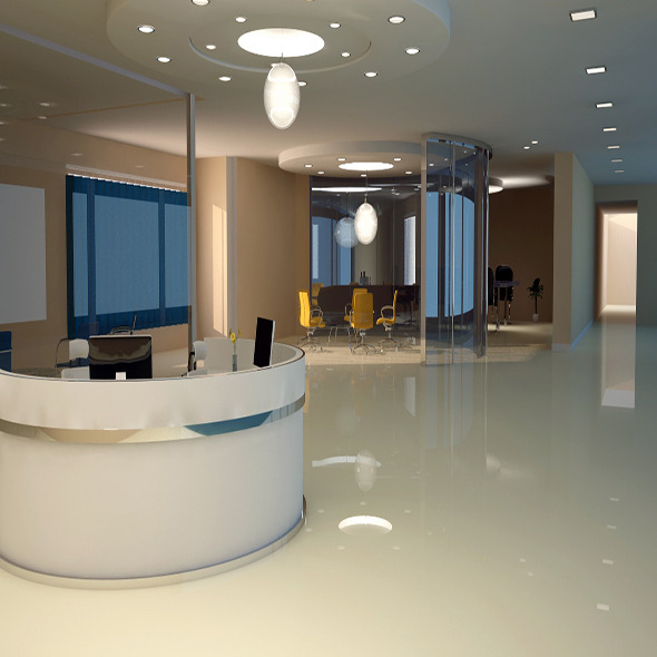 Office interior v ray - 3DOcean Item for Sale