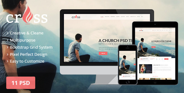 Cross Church | PSD template