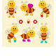 Funny Bees Toilers