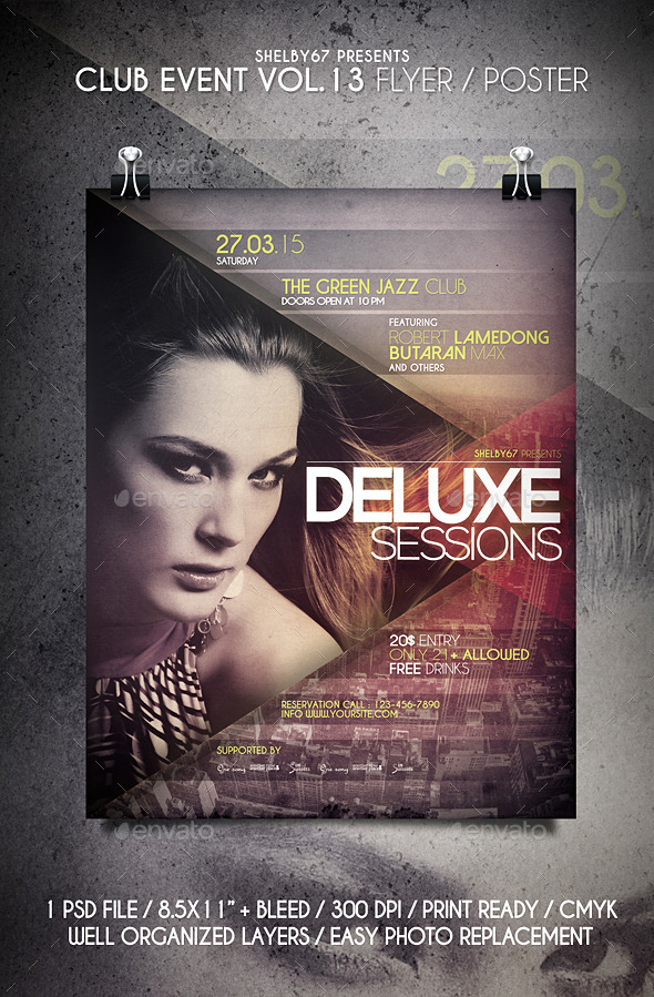 Club Event Flyer / Poster Vol 13 - Clubs & Parties Events