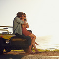 Romantic young couple on road trip - PhotoDune Item for Sale