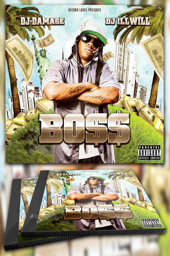 Boss Mixtape Template / Flyer or Album Cover - CD & DVD Artwork Print Templates