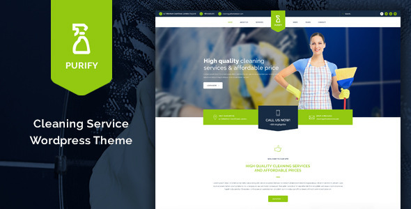 Purify - Cleaning Service WordPress Theme - Business Corporate
