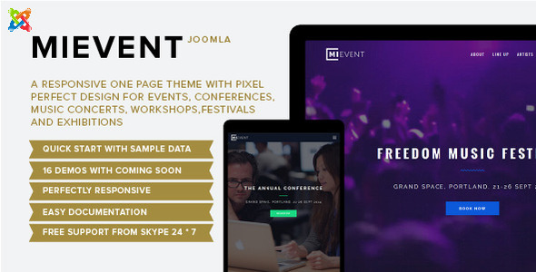 Mievent – Multipurpose Joomla Event & Music