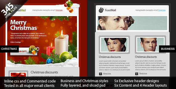 FeastMail - Christmas and Corporate Email Template - Newsletters Email Templates