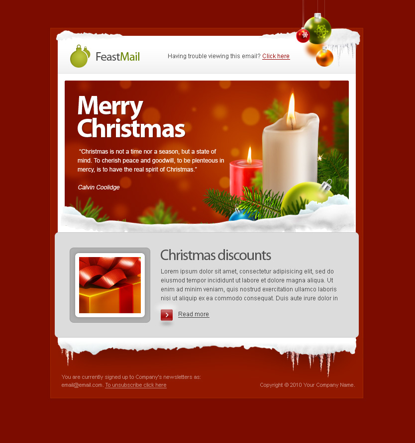 Feastmail Christmas And Corporate Email Template By Olegnax