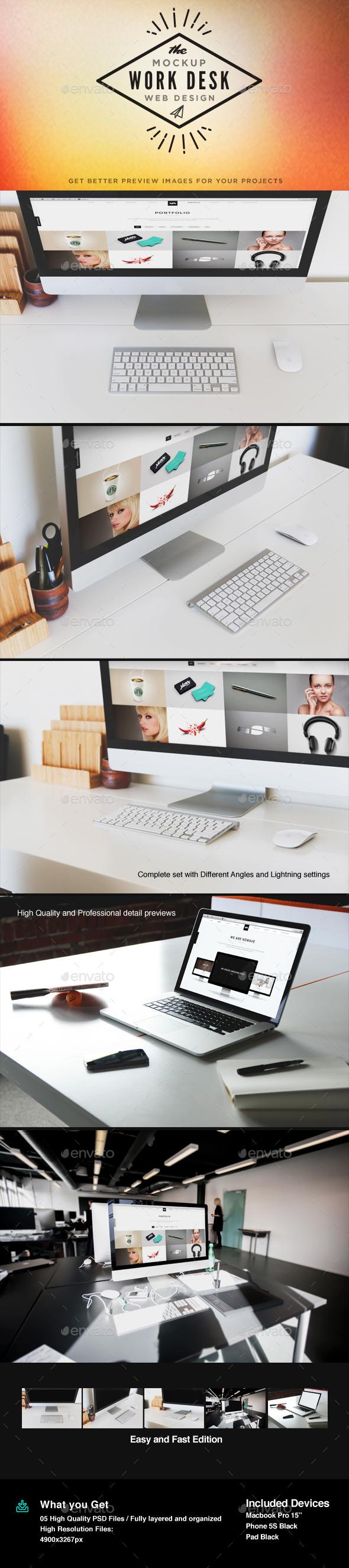 Display Screen Mock-Up - Multiple Displays