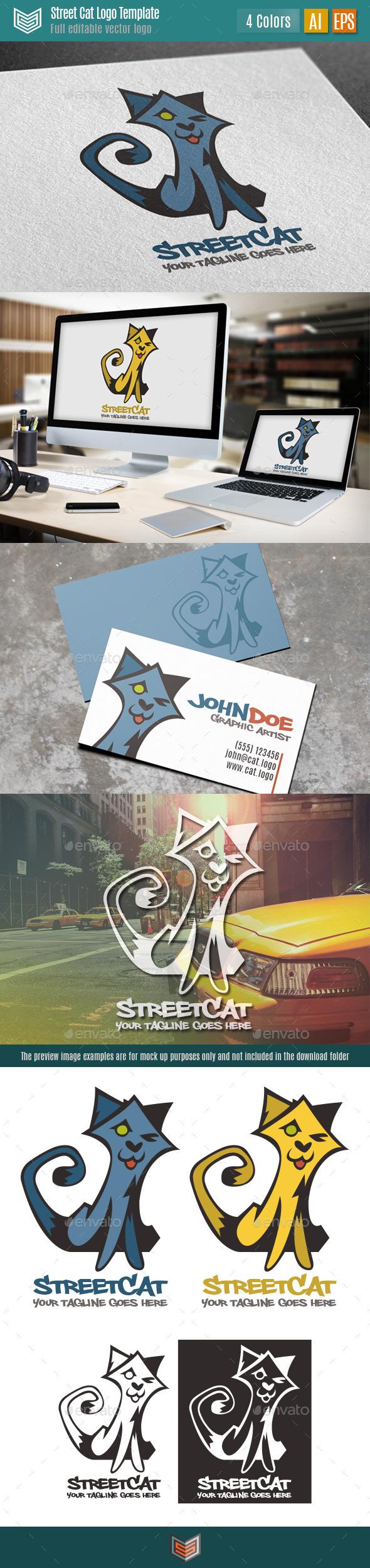 Street Cat Logo - Animals Logo Templates