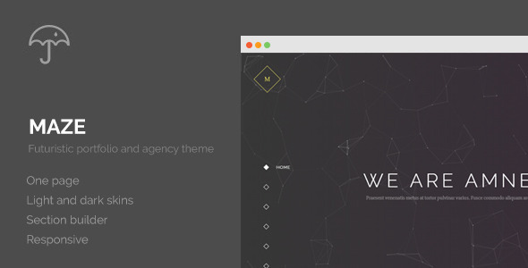 Maze – Creative Agency Portfolio WordPress Theme