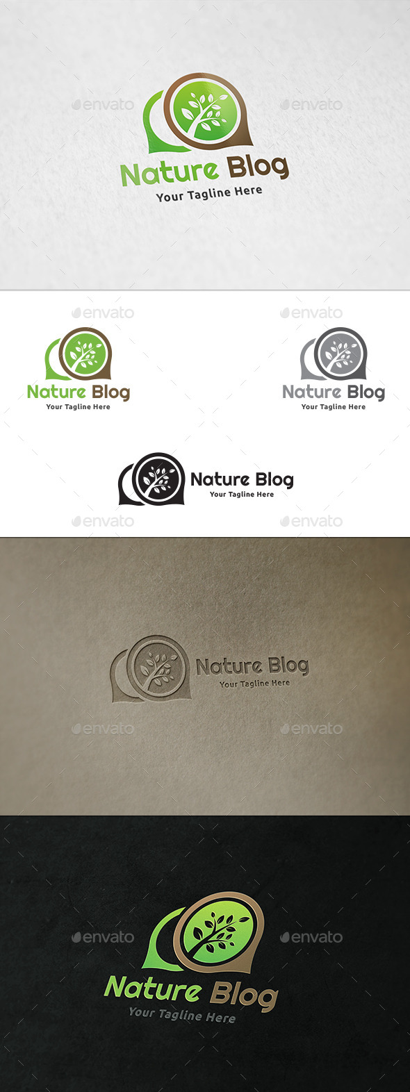 Nature Blog - Logo Template - Nature Logo Templates