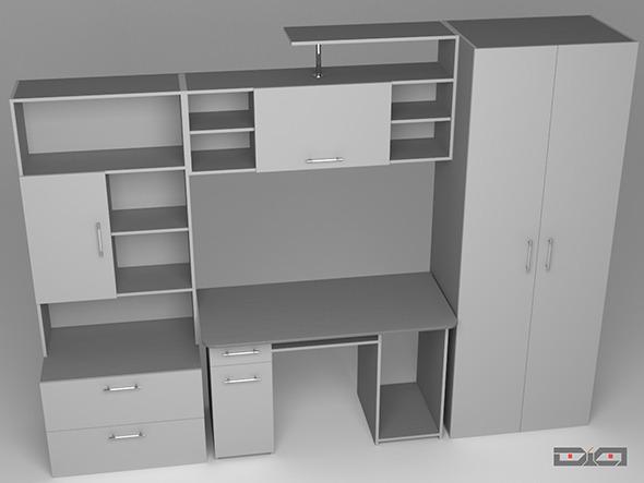 Cabinet Metallic - 3DOcean Item for Sale