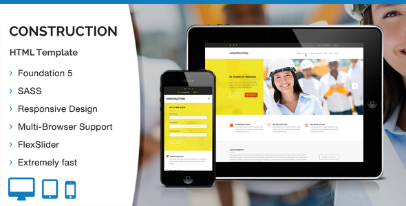 Construction HTML Template - Business Corporate