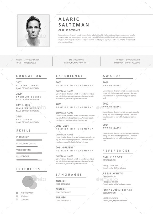 clean  u0026 simple resume by firudra