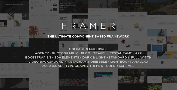 Framer - Multi-Purpose Bootstrap HTML5 Template - Creative Site Templates