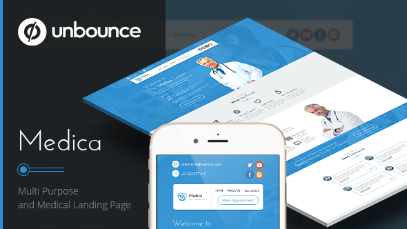 Medica - Unbounce Medical Landing Page - Unbounce Landing Pages Marketing