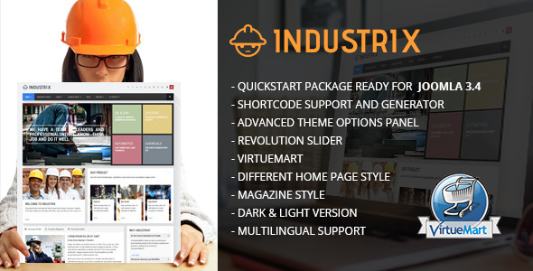 Industrix – Joomla Responsive Business Template