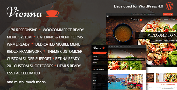 VIENNA – Responsive WordPress Restaurant Theme