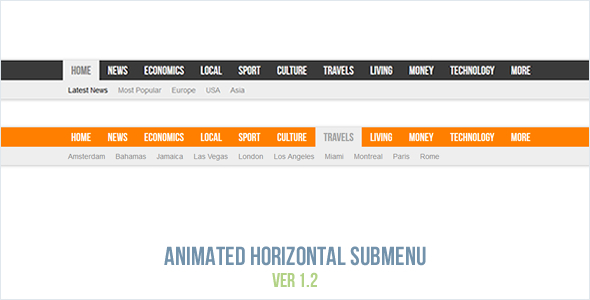 Animated Horizontal Submenu nulled
