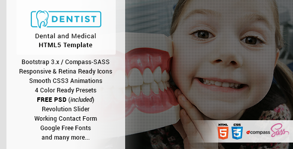 Dentist – Dental & Medical One Page HTML Template