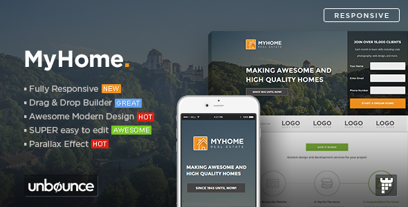 MYHOME - Real Estate Unbounce Template
