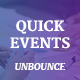 QuickEvents Responsive Unbounce Landing Page Nulled