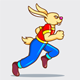 Running Rabbit Sprites Game Assets