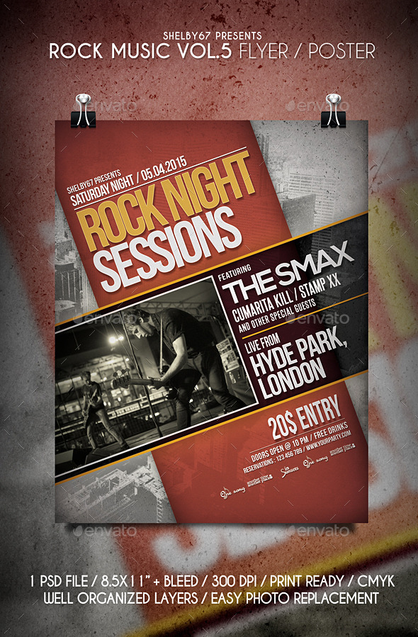 Rock Music Flyer / Poster Vol.5 - Events Flyers