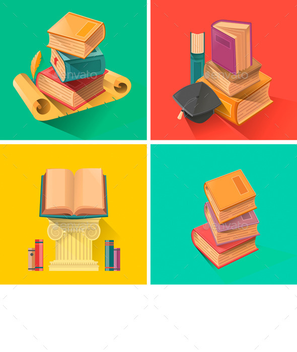 Set of Books  - Man-made Objects Objects