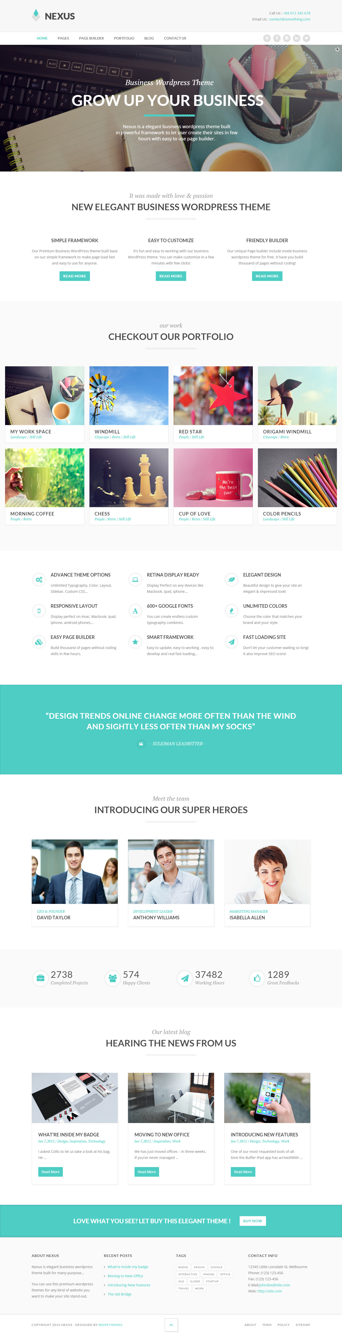 Nexus - Elegant Business WordPress Theme by wopethemes | ThemeForest