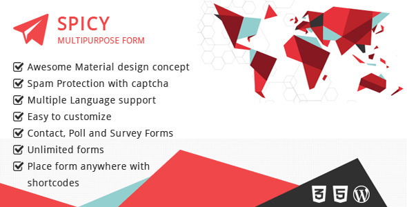 Material Based Spicy Form for Wordpress - CodeCanyon Item for Sale