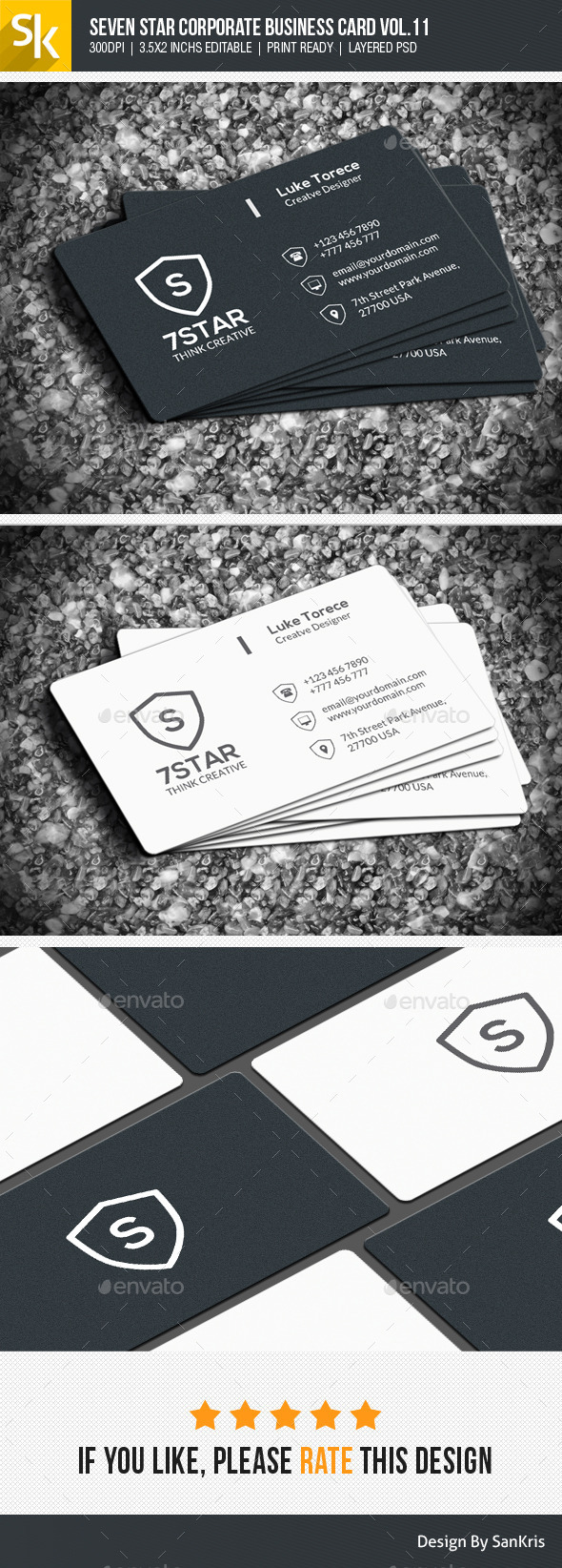 Seven Star Corporate Business Card Vol.11 - Corporate Business Cards