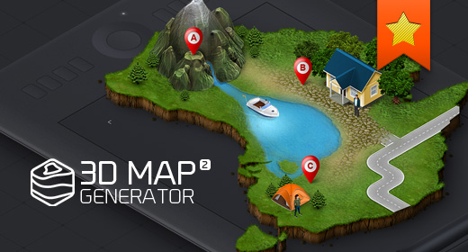 3D Map - Isometric