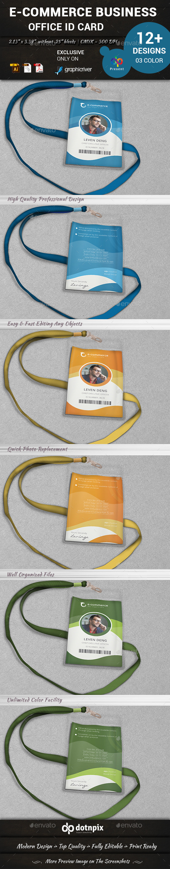 E-Commerce Business Office ID Card - Miscellaneous Events