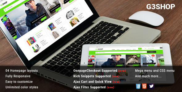 G3Shop – Multipurpose Magento Theme