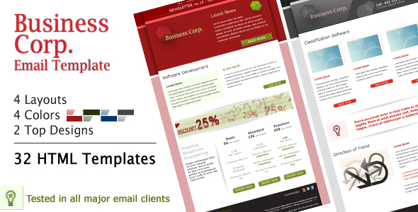 Free Download Business Corp. Newsletter - Email Template Nulled Latest Version