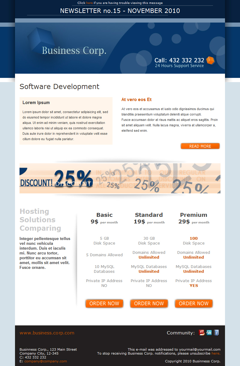 Business Corp Newsletter Email Template By Subline Themeforest