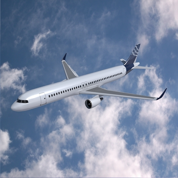 Airbus A320-100 commercial jetliner - 3DOcean Item for Sale