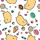 Sweet-Tooth Cat Pattern - GraphicRiver Item for Sale