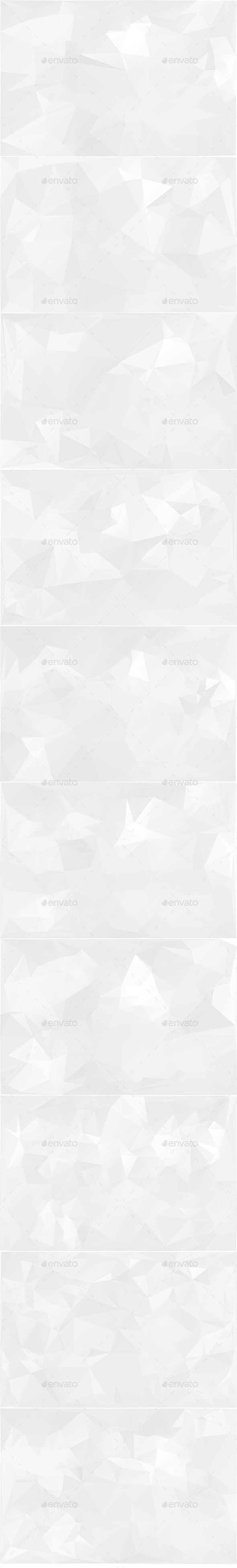 White Polygonal Backgrounds