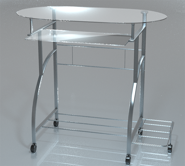 PC Desk Glass - 3DOcean Item for Sale