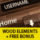 Luxury Wooden Web Elements + Free Bonus Patterns - GraphicRiver Item for Sale
