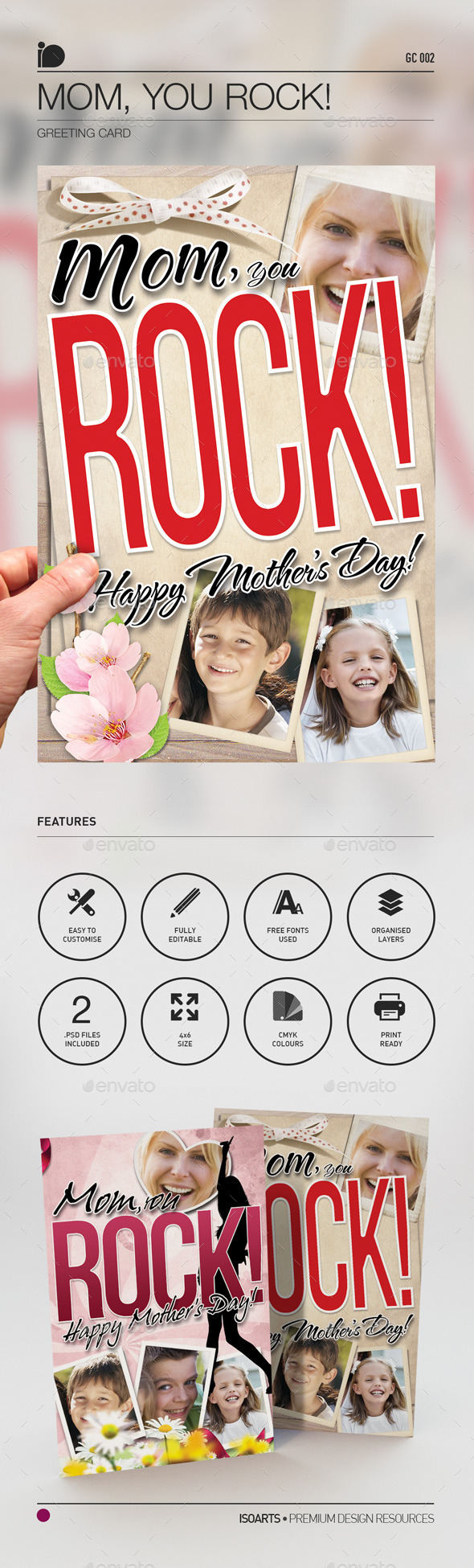 Greeting Card • Mom, You Rock! - Greeting Cards Cards & Invites