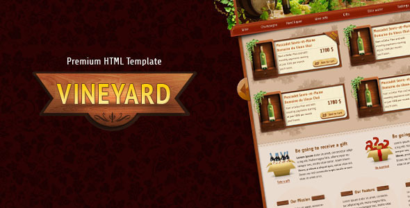 Vineyard – HTML Template