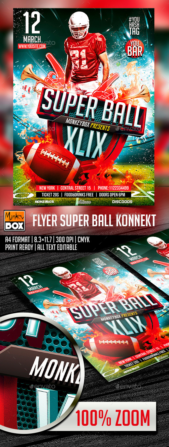 Flyer Super Ball Konnekt - Sports Events