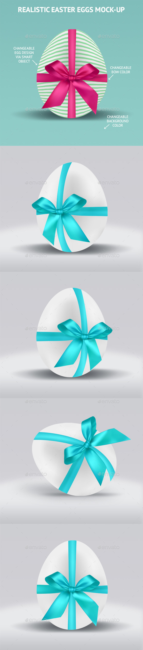 Realistic Easter Eggs Mock-up  - Miscellaneous Backgrounds