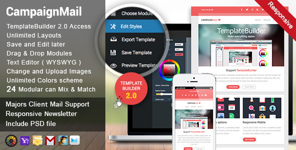 CampaignMail – Responsive E-mail Template