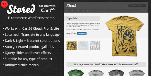Free Download Stored - Ecommerce WordPress Theme for Cart66 Nulled Latest Version