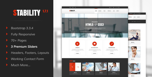 Stability – Responsive HTML5/CSS3 Template