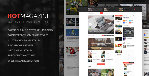 HOTMAGAZINE | Magazine PSD Template - Corporate PSD Templates